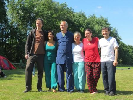 Laura Stone met alle leraren van Drachen und Tiger 2015