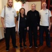 Arjen Jonker en Alwin Wubben met Grootmeester William C. C. Chen