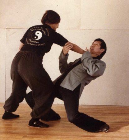 Pushen met Grootmeester Chen in 1979
